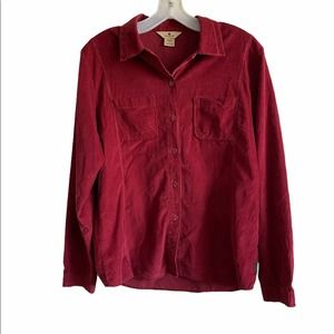 WoolRich Black Cherry Button Down Shirt Size S